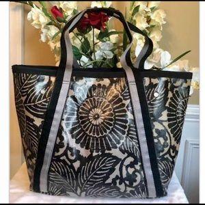Lululemon canvas coated floral tote bag